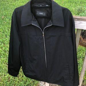 Alfani Mens Full Zip Jacket Black Size XL